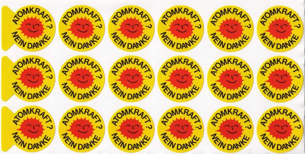 Aufkleber Atomkraft Nein Danke 18 Sonnen