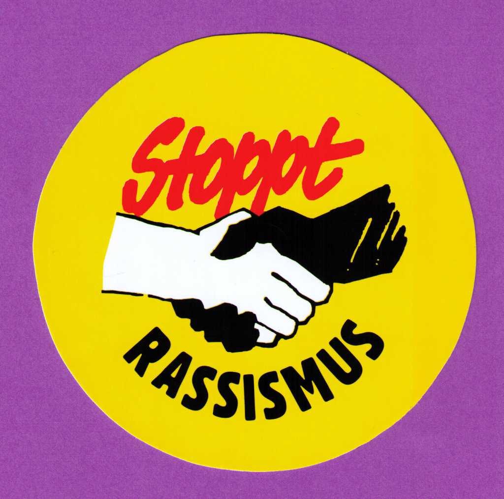 Stoppt Rassismus Aufkleber