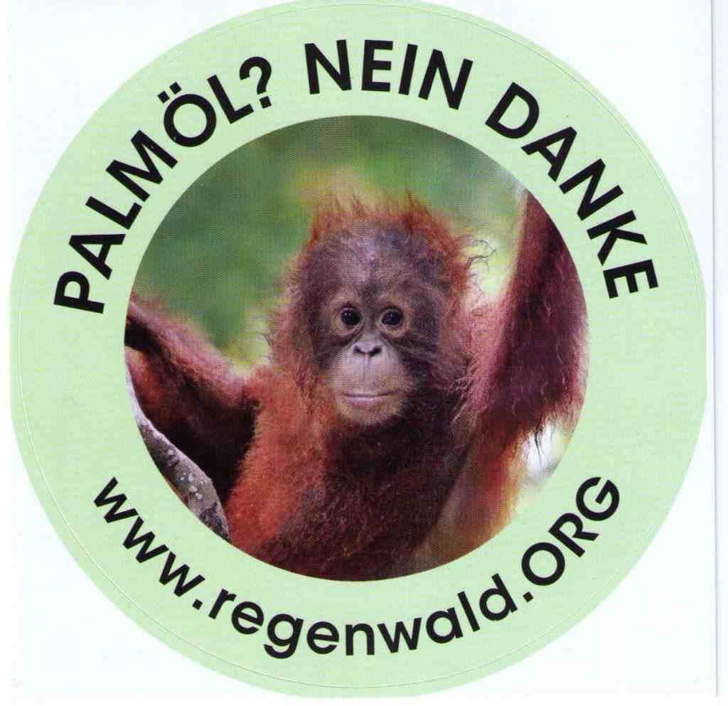 Aufkleber Palmöl
