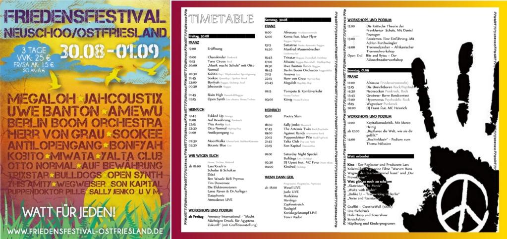 Friedensfestival Ostfriesland 2013 FlyerProgramm