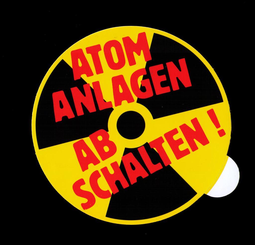 Aufkleber Atomanlagen abschalten
