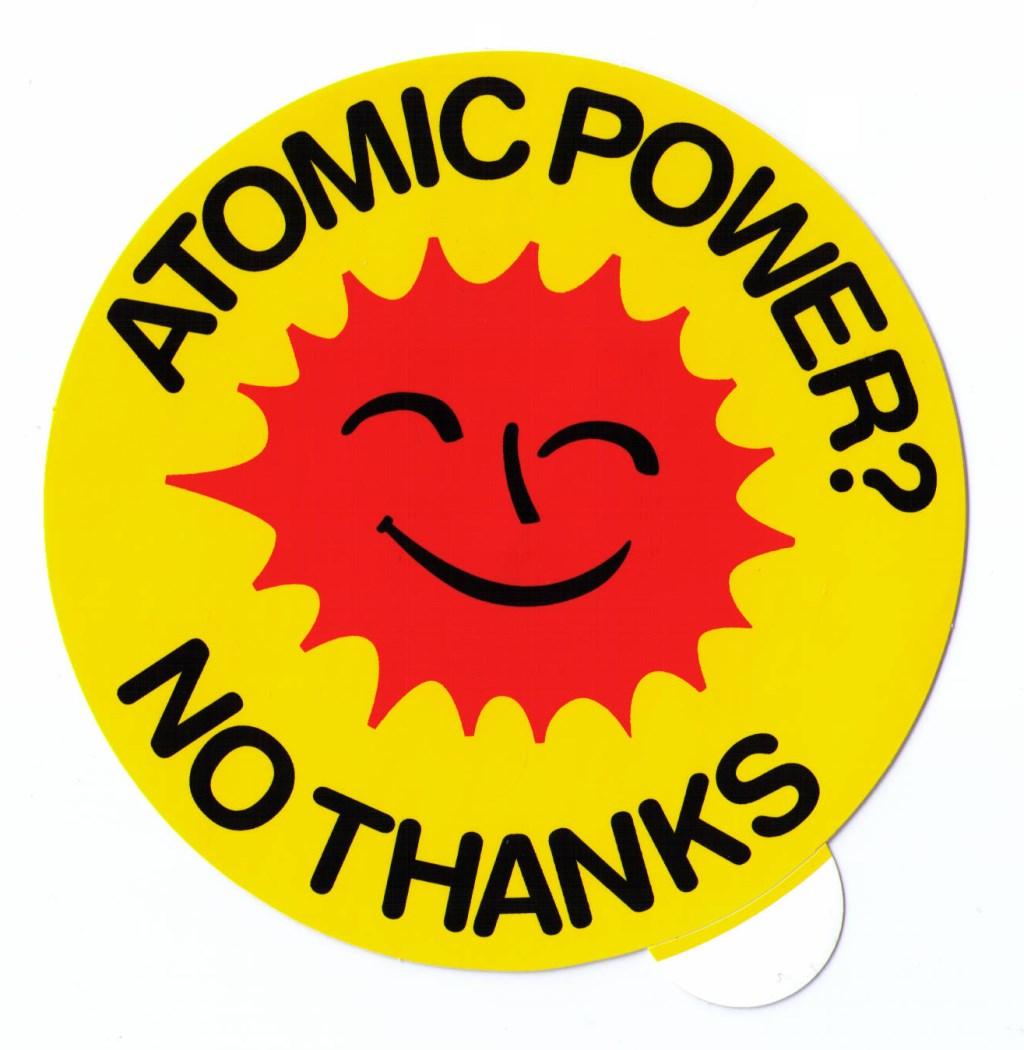 Aufkleber Atomic power No thanks