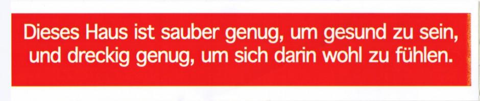 Kleber Sauber genug