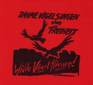 Aufnäher Zahme Wilde Vögel rot