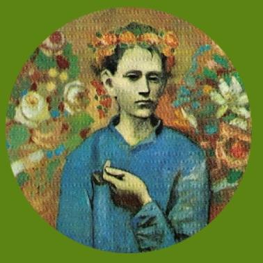 bk45 Picasso Junge mit Pfeife