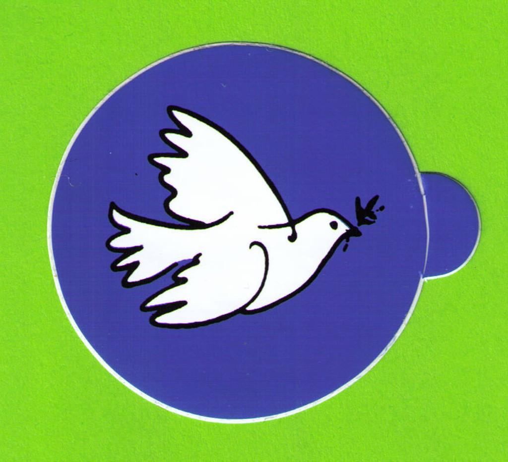Aufkleber Friedenstaube klein