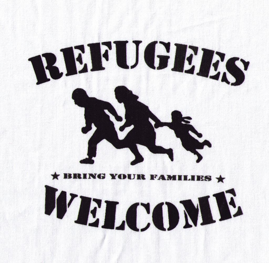 aufnäher refugees welcome